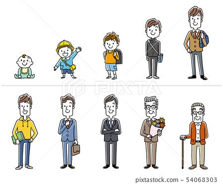 Men: life stage, life 54068303