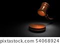 판결을 나타내는 망치 54068924