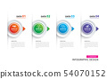 Infographics timeline circle paper with 4 data 54070152