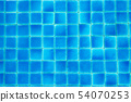 Top view swimming pool blue ripped water abstract 54070253