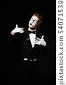 portrait of mime man on black background 54071539