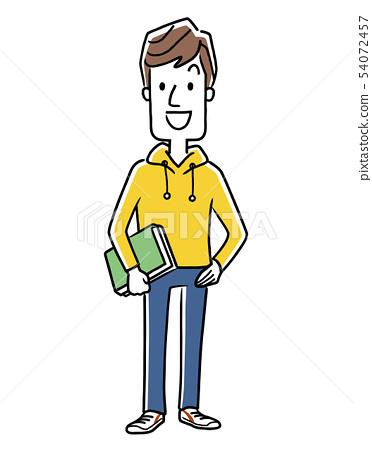 微笑的男人,男大學生,學生 54072457