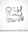 Vector group of pets desige. Animal. 54072489