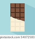 chocolate bar vector with long shadow 54072583