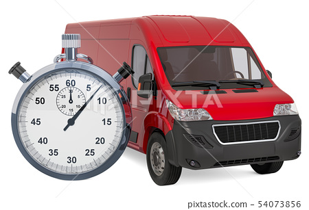 Commercial delivery van with chronometer 54073856