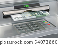 ATM machine with euro. Withdrawing euro 54073860