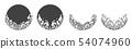 Oriental water ornamental vector. 54074960