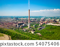Industrial landscape with heavy pollution 54075406