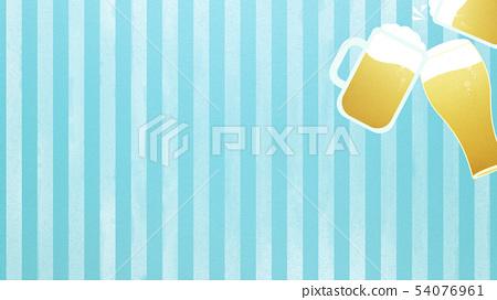 배경 - 맥주 - 건배 - 스트라이프 - 블루 54076961