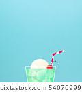 배경 - 여름 - 크림 소다 - 블루 54076999