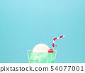 배경 - 여름 - 크림 소다 - 블루 54077001