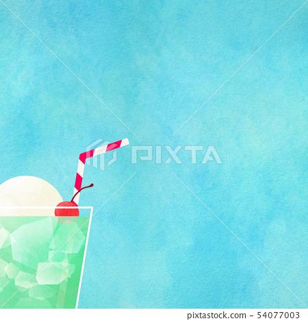 배경 - 여름 - 크림 소다 - 블루 54077003