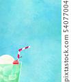 배경 - 여름 - 크림 소다 - 블루 54077004