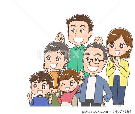 3 세대 가족 가족 54077164