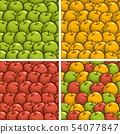 Vector apple seamless patterns 54077847