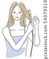 Women who use trowel 54079319
