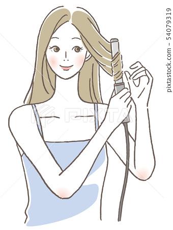 使用抹子的女性 54079319