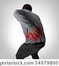 Painful back symptoms and lower spinal pain or bac 54079800