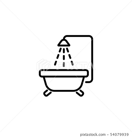 Baby bath bw stock illustration. Illustration of bath - 8400365