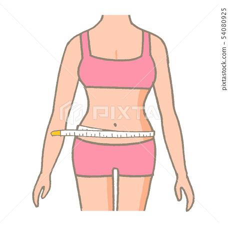 허리를 측정하는 측정 54080925