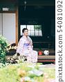 툇마루에서 涼む 유카타 여성 54081092