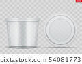Set of Clear Plastic container for food 54081773