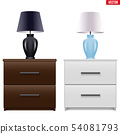 Bedside nightstand with night light 54081793