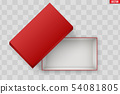 Blank of Open Red Shoe Box 54081805