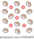 고슴도치 배경 화면 - 꽃 1 54083899