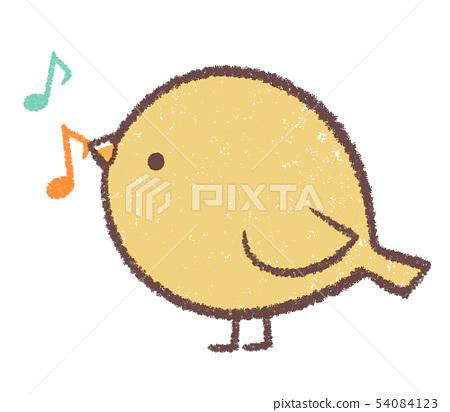 Little bird yellow-note 54084123