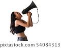 扩音器 喇叭 呼喊 54084313