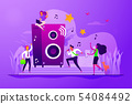 Office fun concept vector illustration 54084492