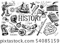 The history of people, science and education, religion and travel, discoveries and old ancient 54085159