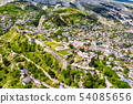 Aerial view of Gjirokaster Fortress in Albania 54085656