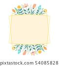 手寫的花框架 54085828