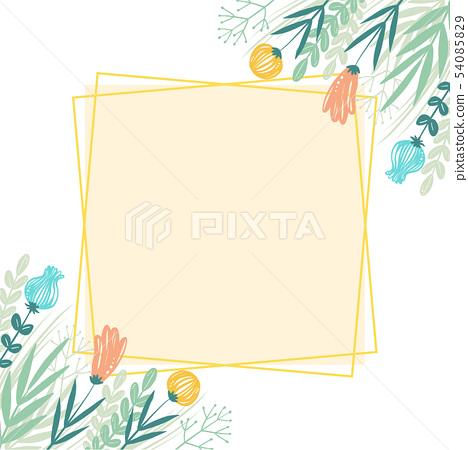 手寫的花框架 54085829