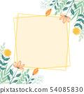 手寫的花框架 54085830