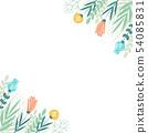 手寫的花框架 54085831