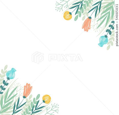 필기 꽃 프레임 54085831