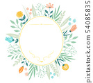 手寫的花框架 54085835