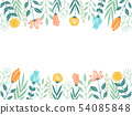手寫的花框架 54085848