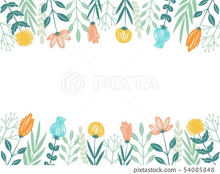 필기 꽃 프레임 54085848