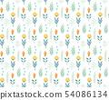 手寫的花卉圖案 54086134