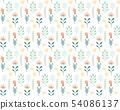 手寫的花卉圖案 54086137
