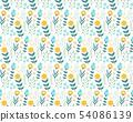 手寫的花卉圖案 54086139