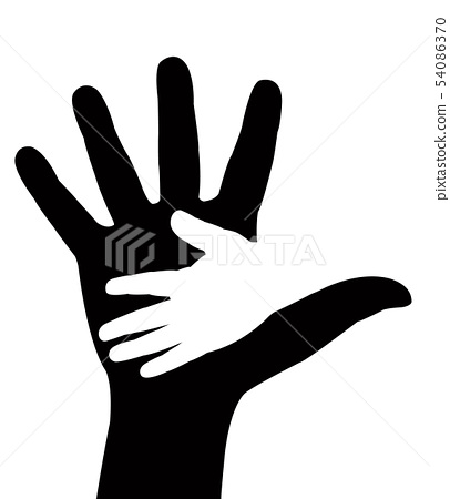 helping hands silhouette vector 54086370