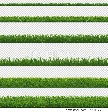 Green Grass Border And Transparent Background 54087702