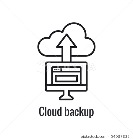 Website Data Transfer Icon with arrow imagery of 54087833