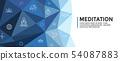 Meditation Icon Set and Web Header Banner 54087883