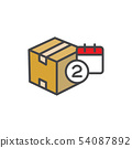Delivery or Scheduling icon with the number 2 on 54087892